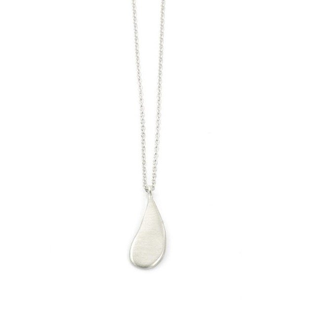 Small Drop Silver Necklace