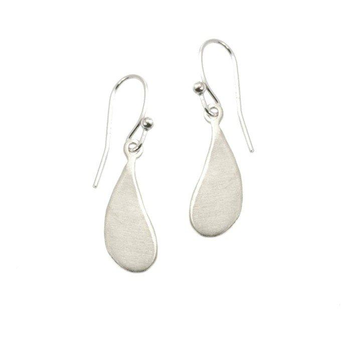 Small Drop Silver Earrings