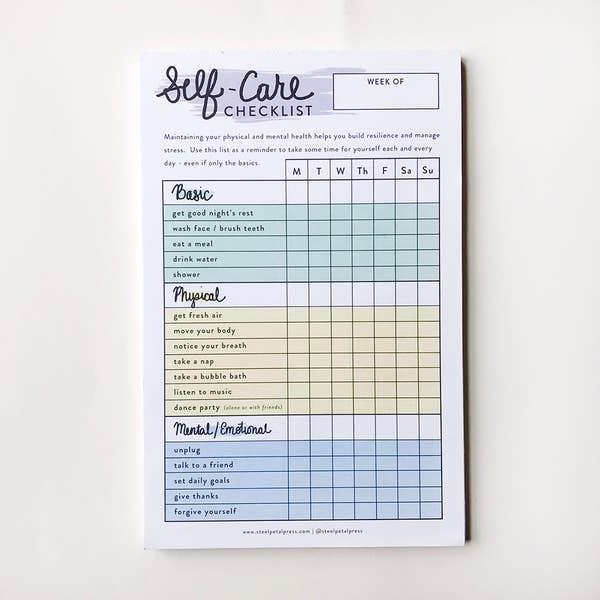 Self Care Checklist Tracker
