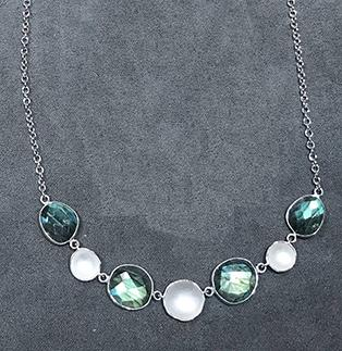 Stepping Stone Labradorite & Sterling Necklace