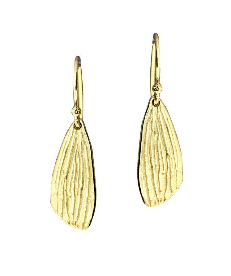 Medium Reed Vermeil Earrings