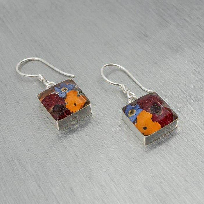 Flora Square Hook Earrings