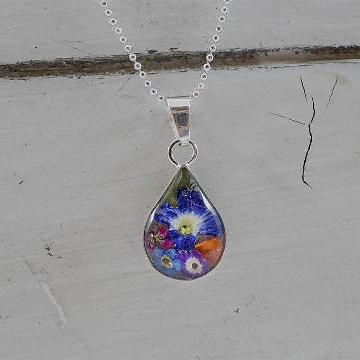 Teardrop Flora Necklace
