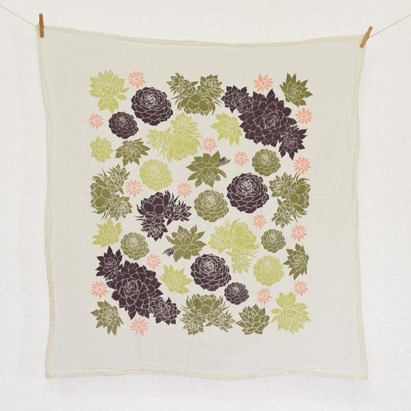 Succulent Kitchen Towel
