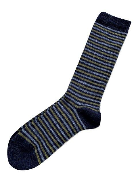 Ivy Striped Alpaca Socks