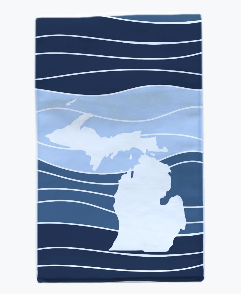 Michigan Wave Towel