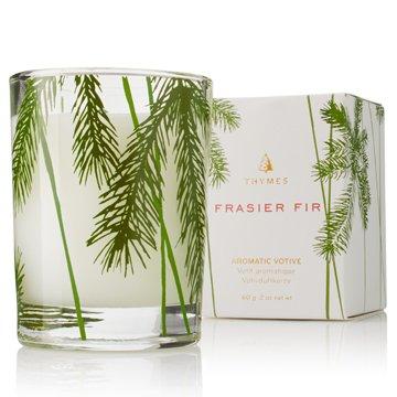 Fraser Fir Glass Votive Candle