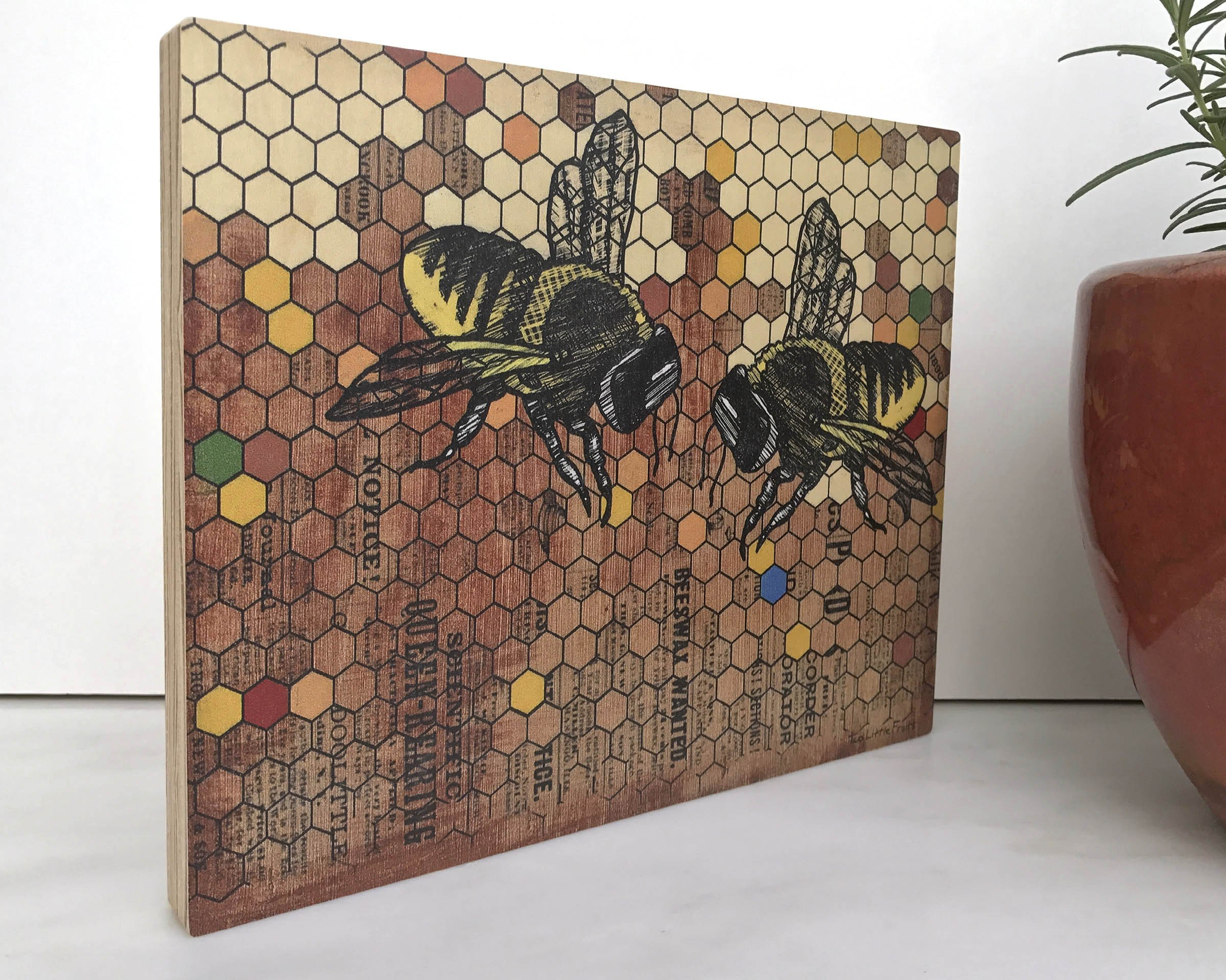 Bee & Honey Large Art Block