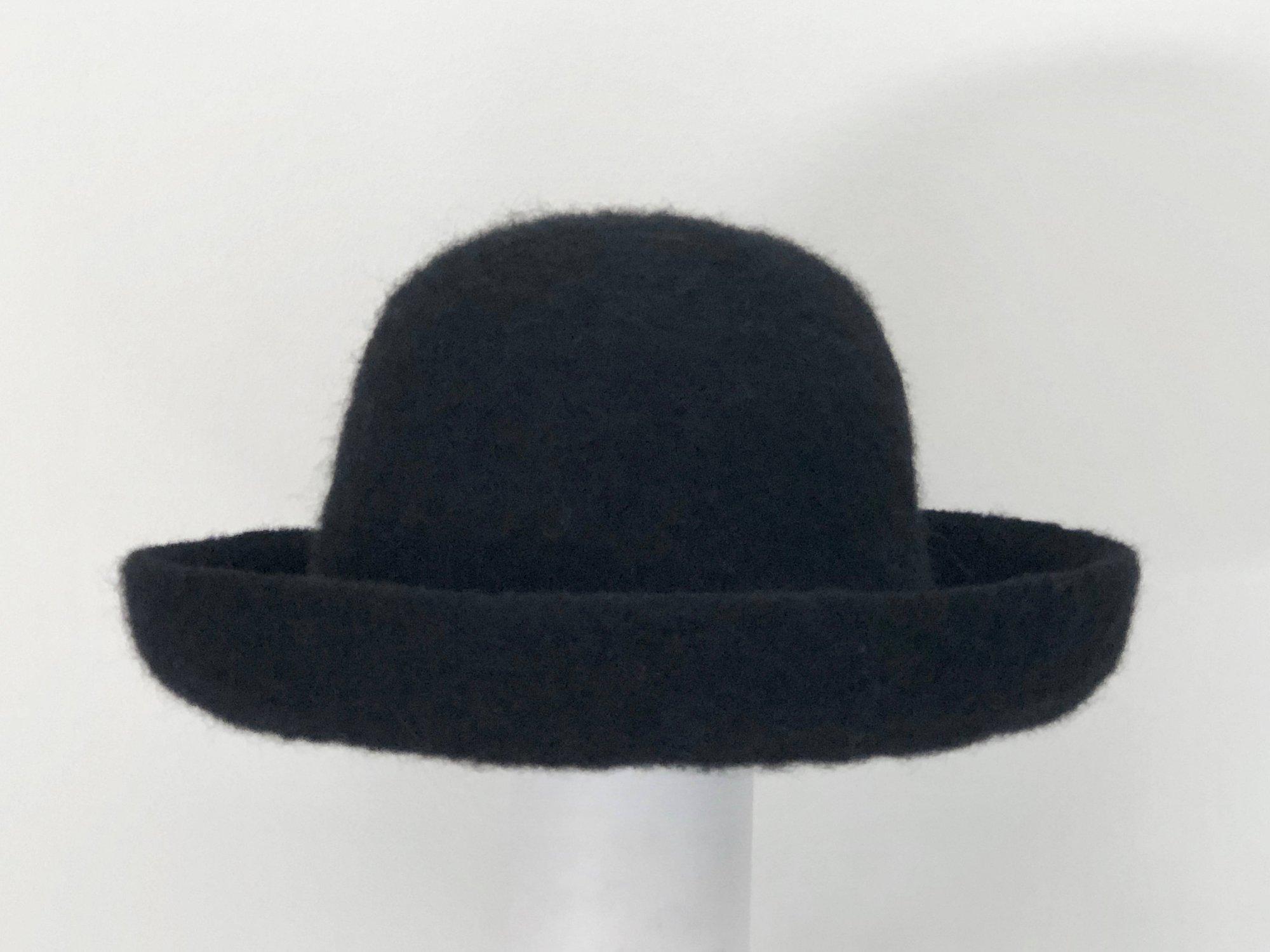 Black Brimmed Hat
