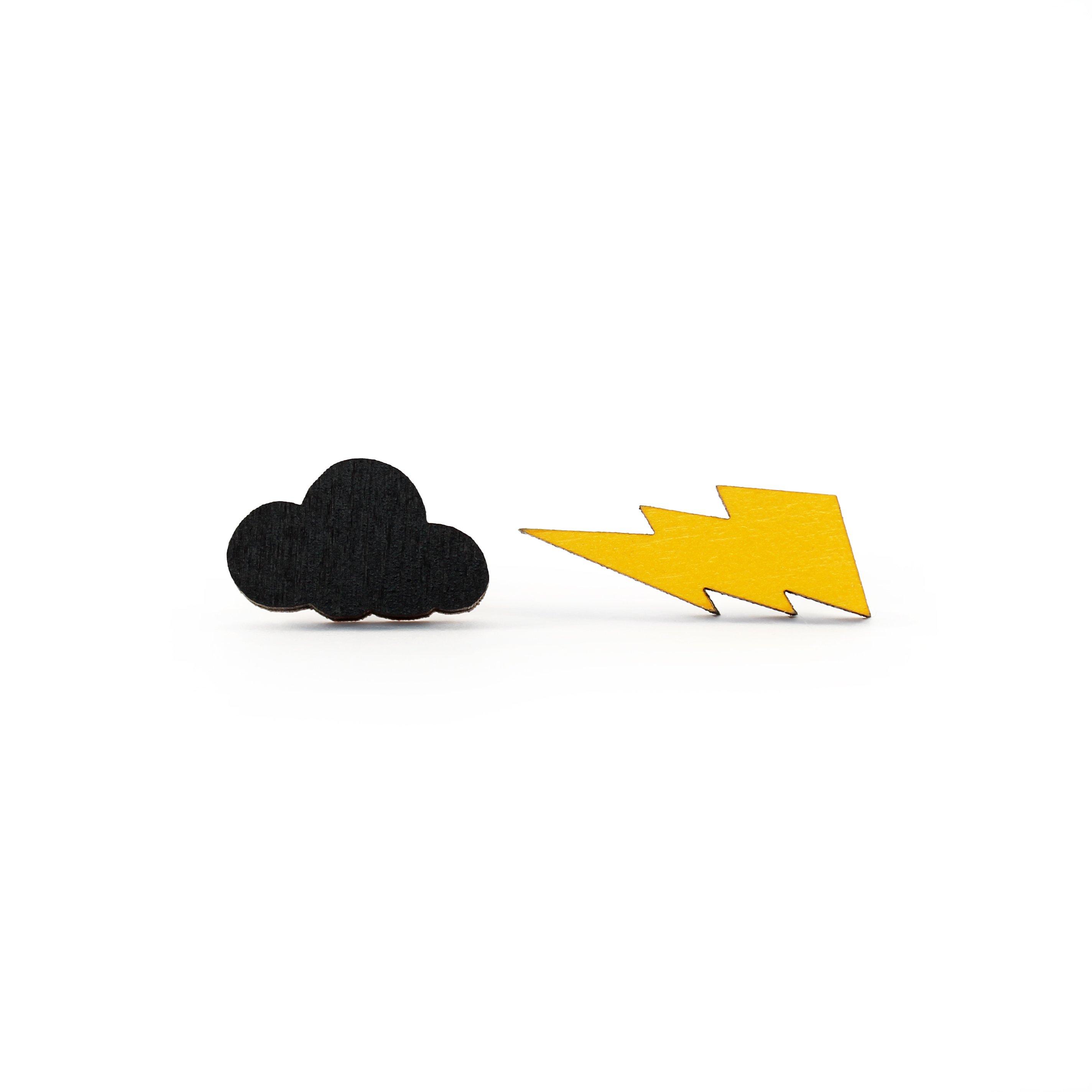 Cloud & Lightning Earrings