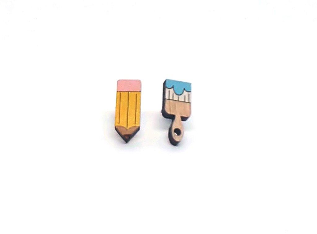 Pencil & Brush Earrings