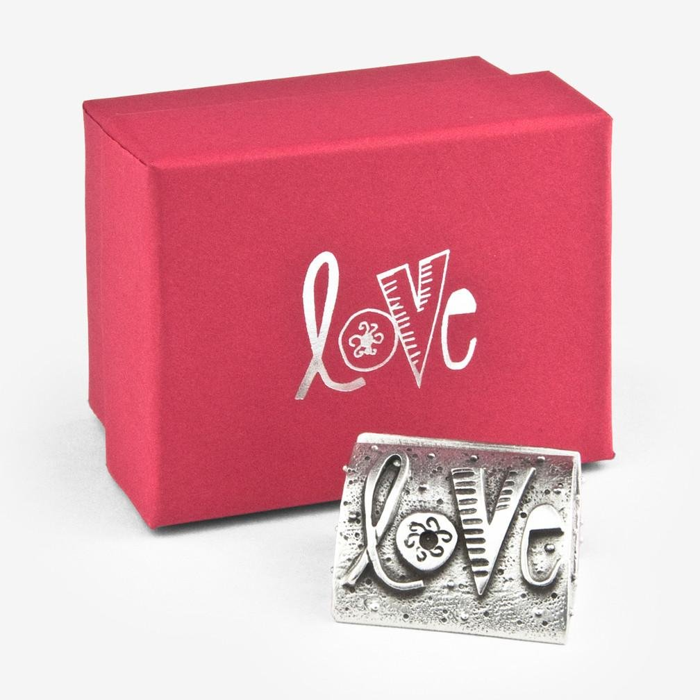 Love Photo Stand in Pewter