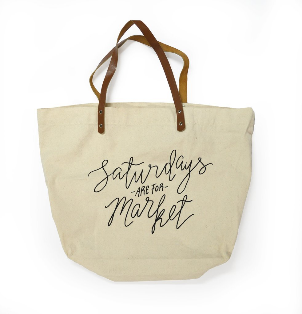 Saturdays Are For Market Tote Bag