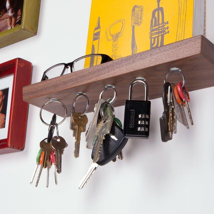 Walnut 10 Key Rack