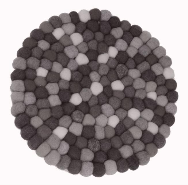 Black & White Felt Ball Trivet