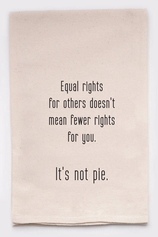 Equal Rights Tea Towel