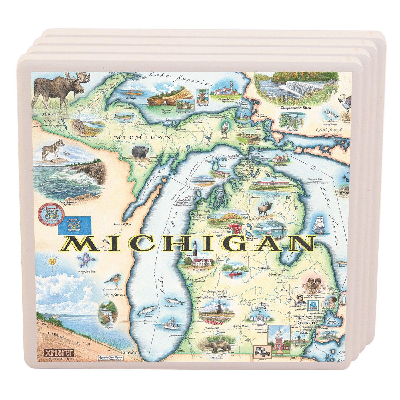 Michigan Ceramic Coaster (single)