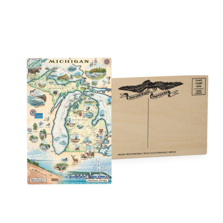 Michigan Wooden Postcard (single)