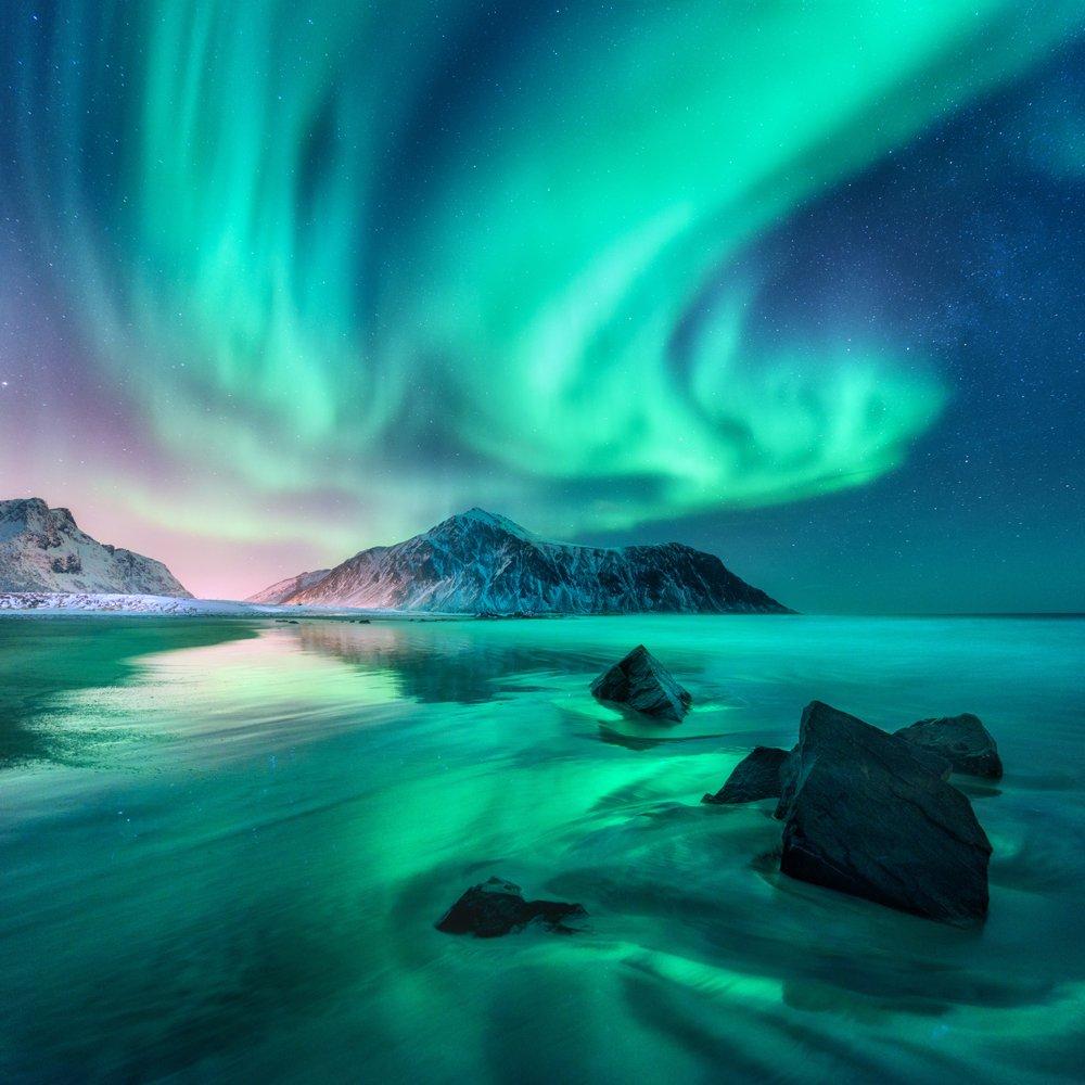 Aurora Borealis Small Zen Puzzle