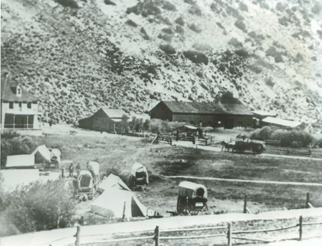 Camping in Hot Sulphur Springs Park - 1900