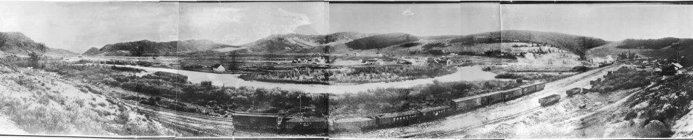 Hot Sulphur Springs, Colorado early panorama - date unknown