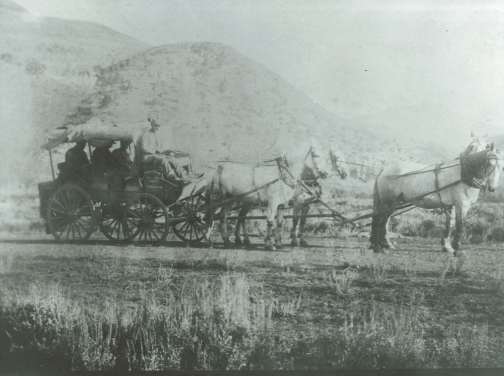 Last stage out of Hot Sulphur Springs - 1905