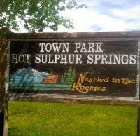 Hot Sulphur Springs Town Park signage