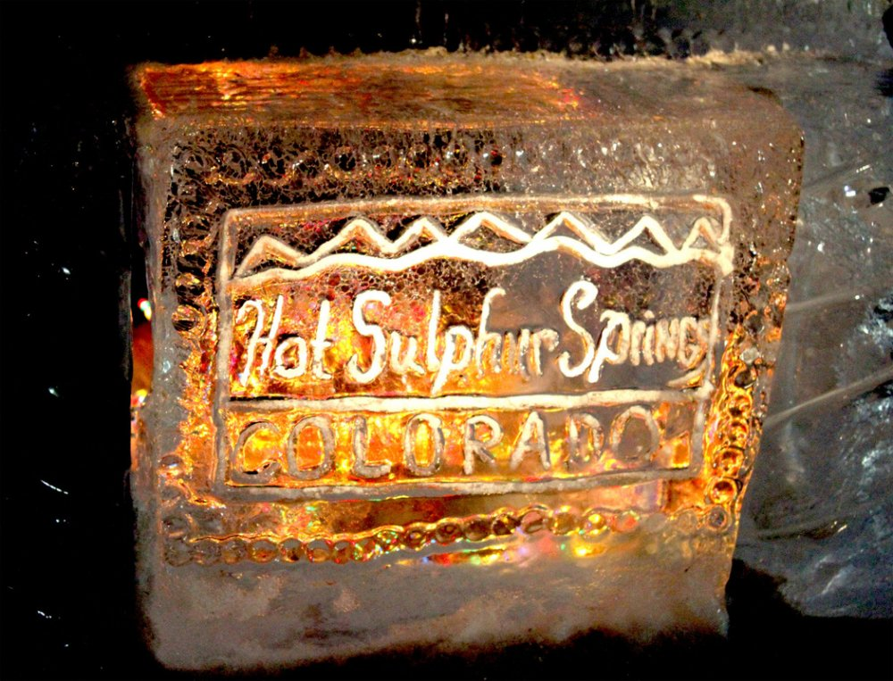 Hot Sulphur Springs Ice Sculpture - 2011