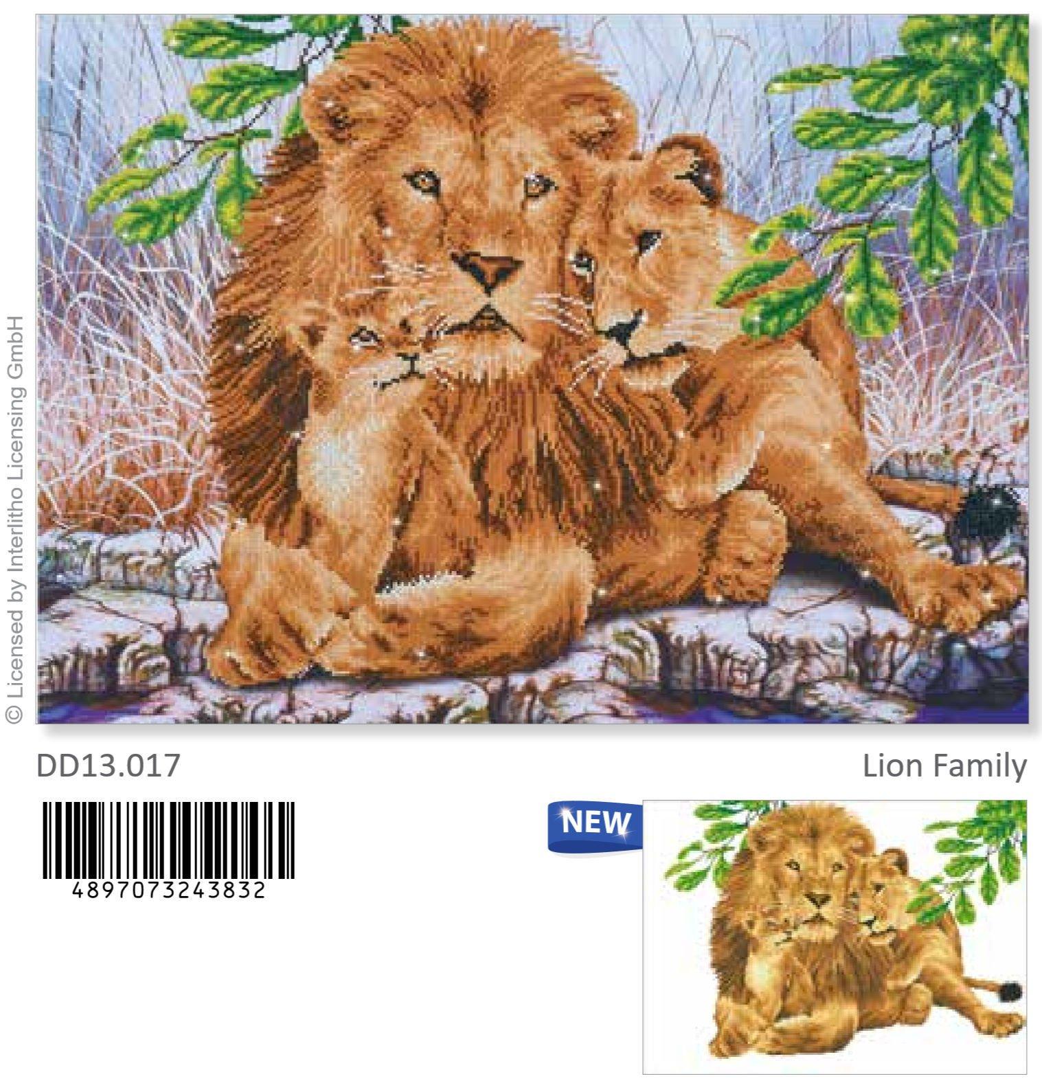 Kit Diamond Dotz  Lion Family 77 x 55cm