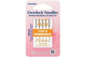 Hab Mach/Needles Overlock 80/12 TypeG Med #107.G