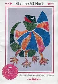 Monica Poole Pattern Flick the Frill Neck Lizard