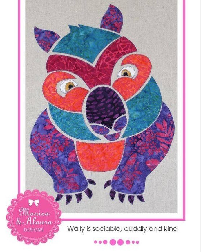 Monica Poole Pattern Wally Wombat