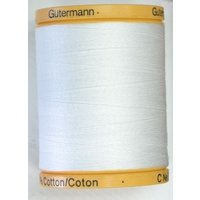 Gutermann 800m 100% Cotton White Col 5709