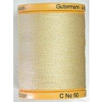 Gutermann 800m 100% Cotton Cream Col 928