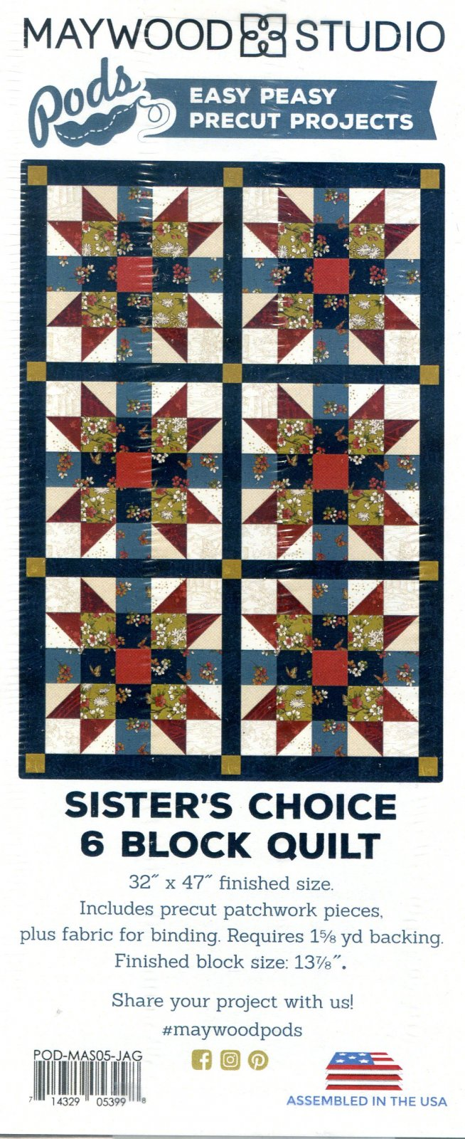 FabK Sister's Choice Table Runner 6 Block