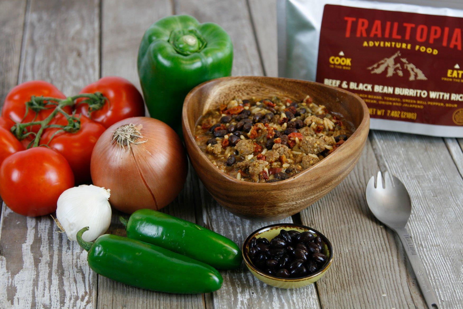 Trailtopia Beef & Black Bean Burrito