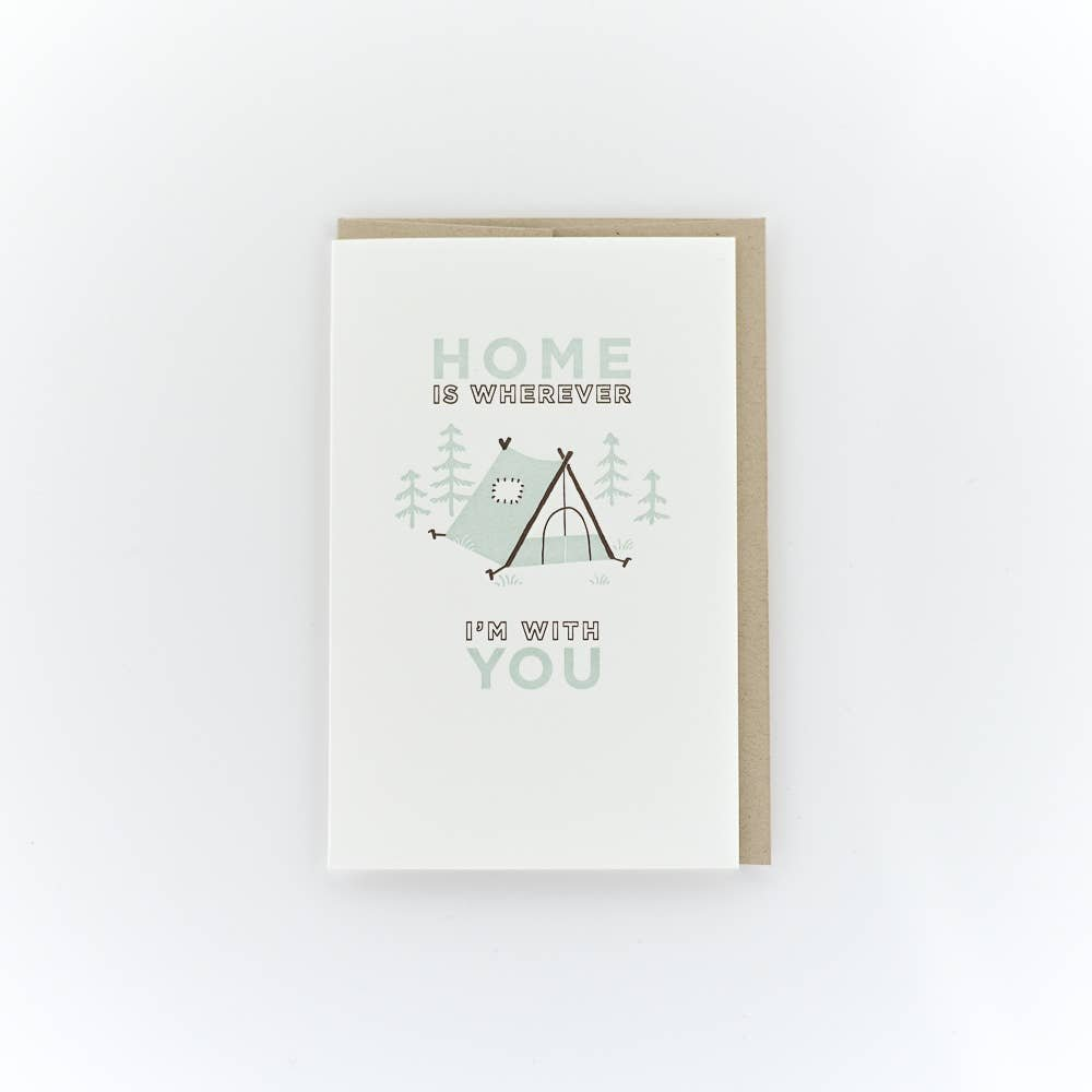 PSP Home is Wherever I'm With You Tent Card