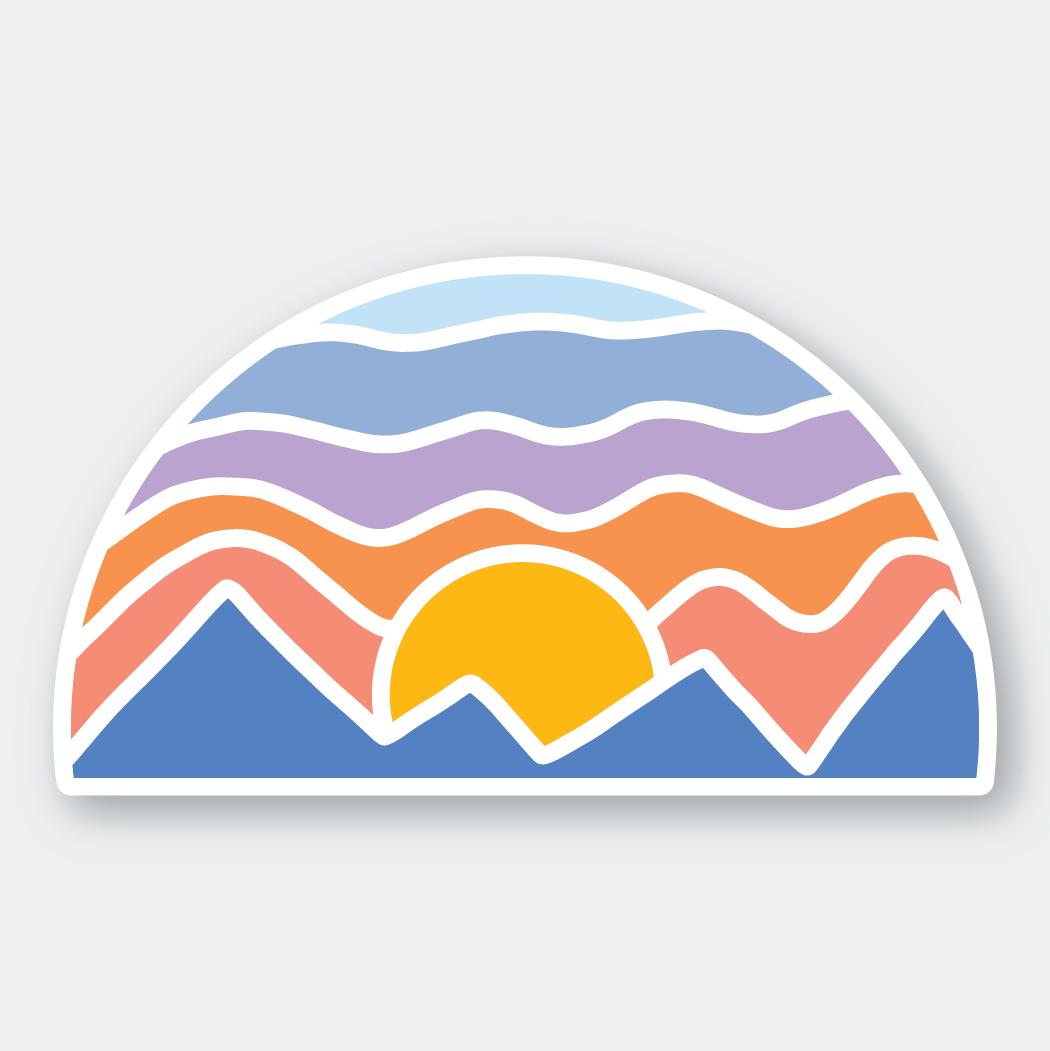 PSP Mosaic Mountain Sticker