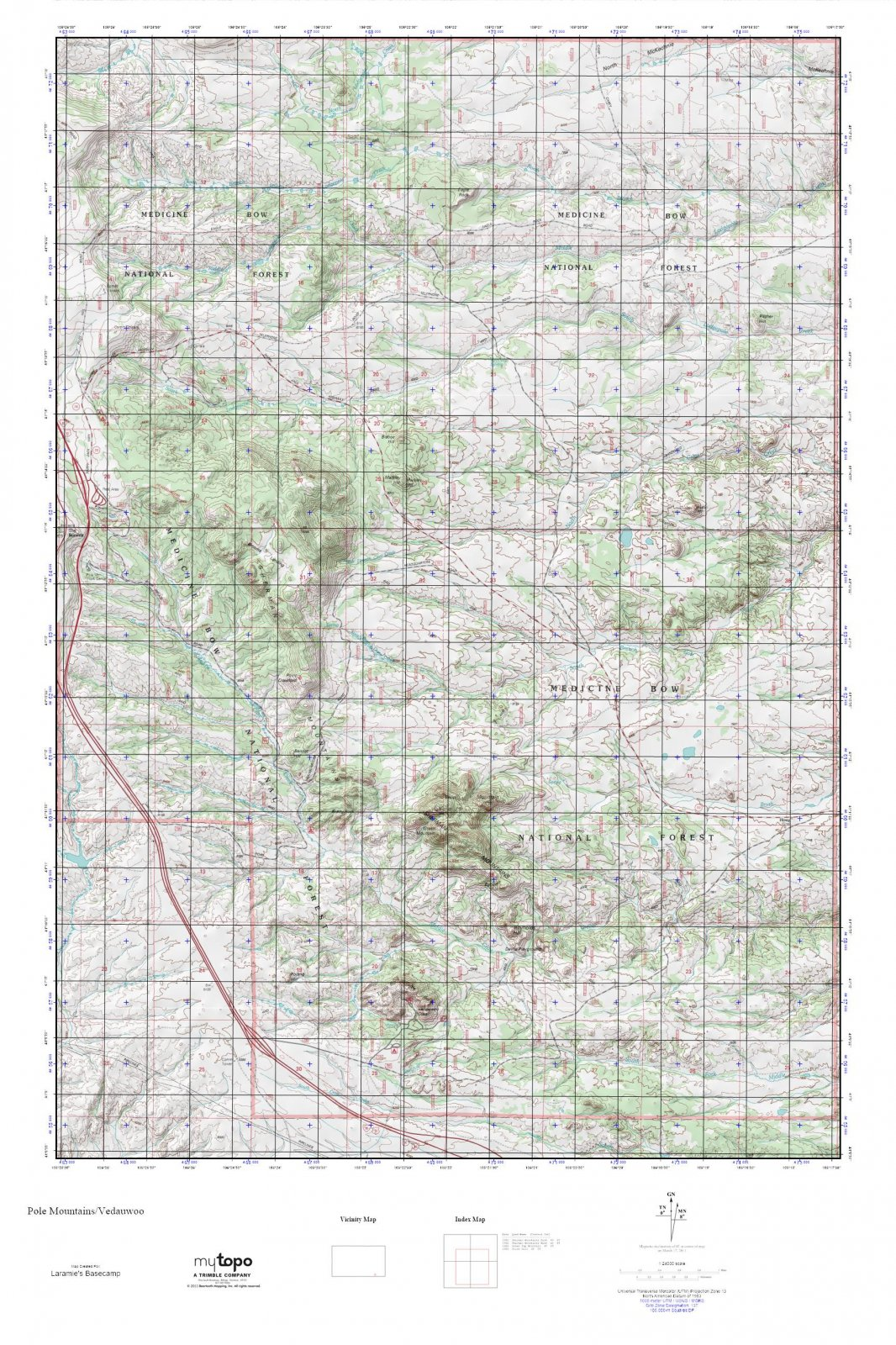 MyTopo Pole Mountains/Vedauwoo Map