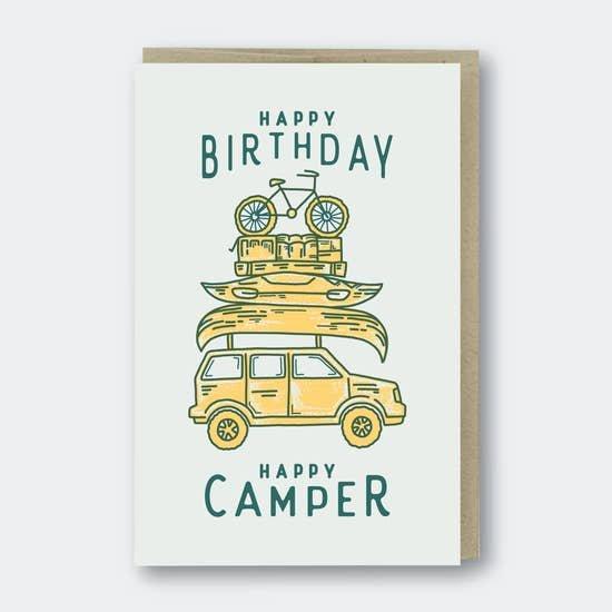 PSP Happy Camper Birthday Card