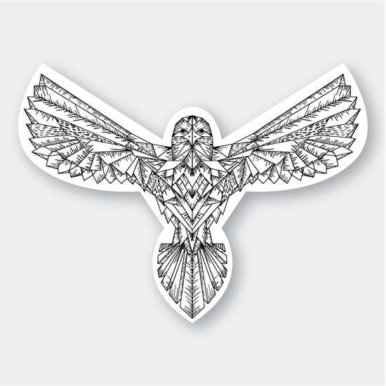 PSP Geo Eagle Sticker