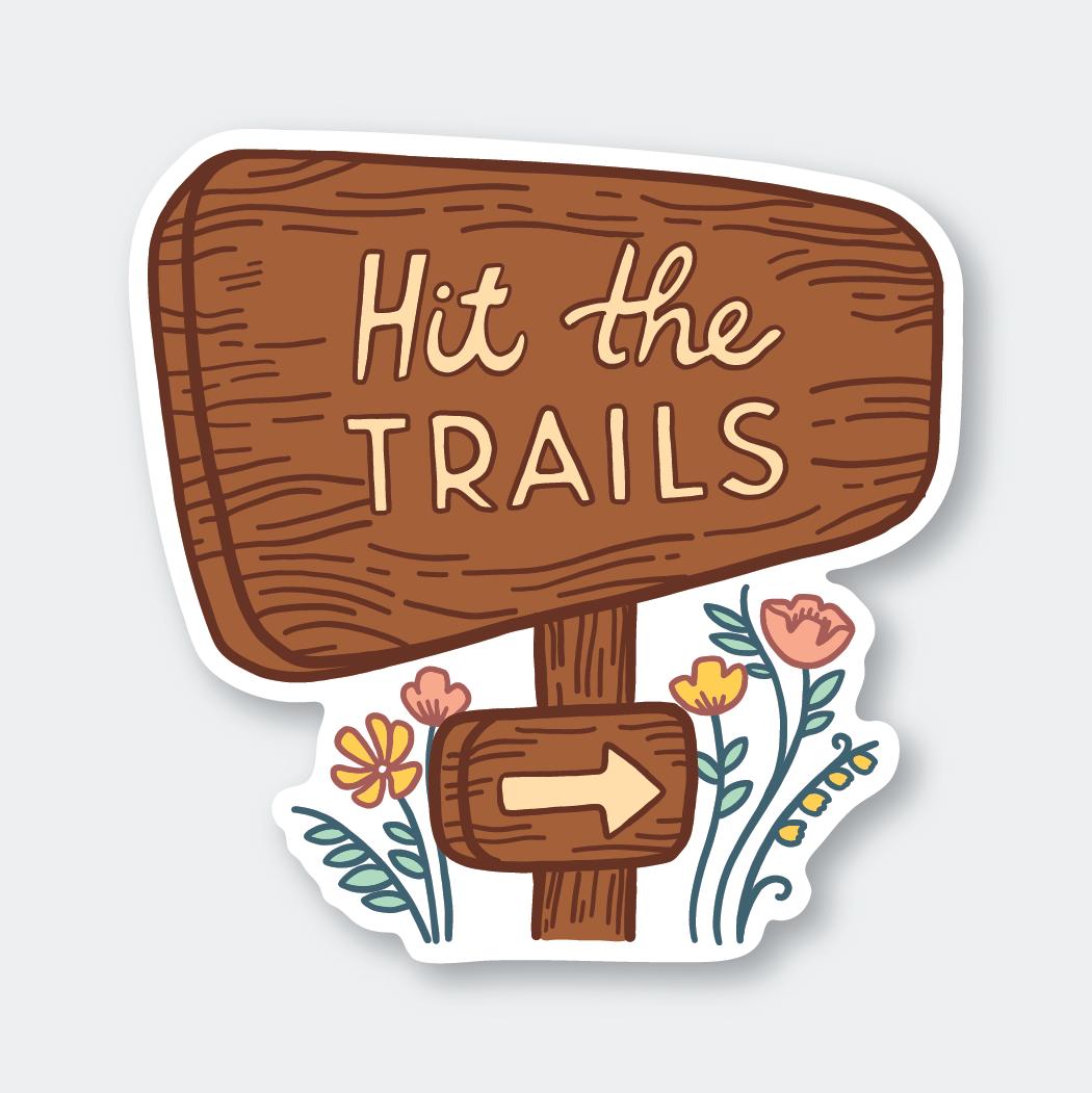PSP Hit the Trail Sticker