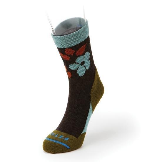 Fits Light Hiker Floral Mini Crew Socks