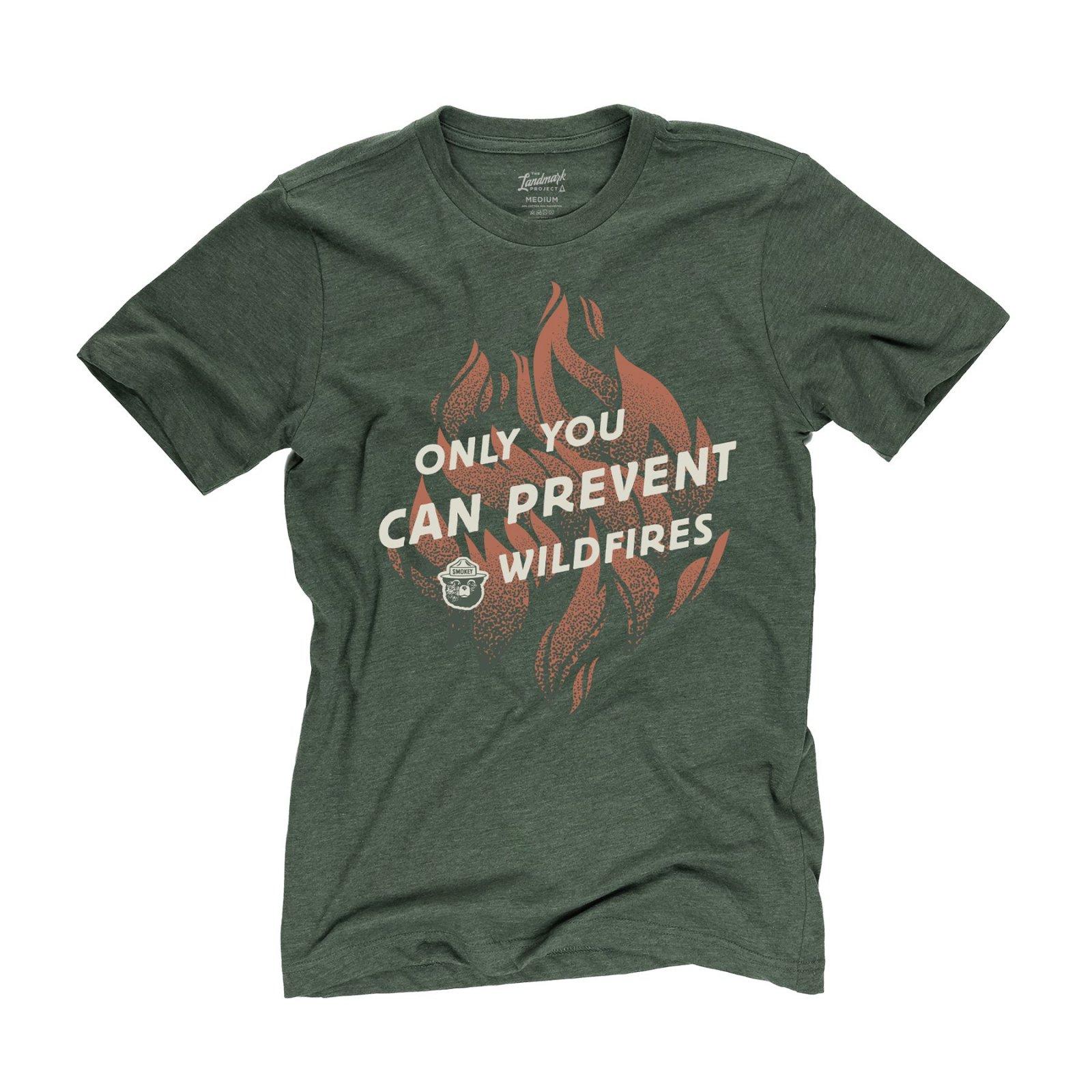 tLP Smokey Bear Flame Tshirt