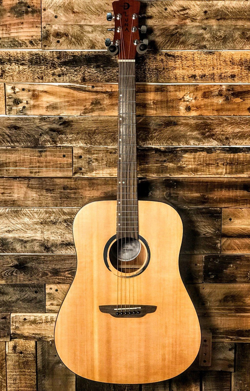 Luna Dread Guitar Solid Top WABID