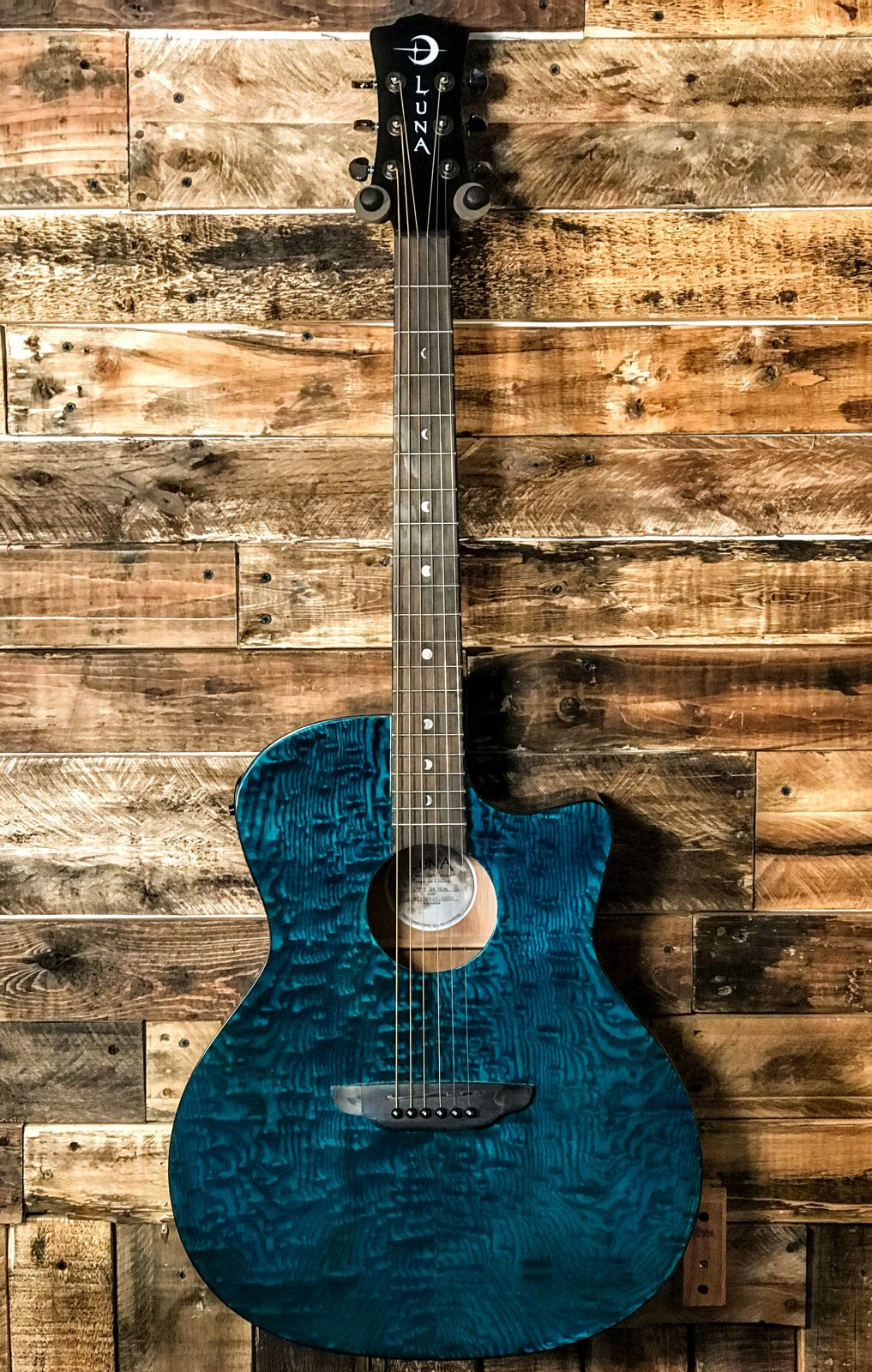 Luna GYPQAATEAL Acoustic Electric Guitar