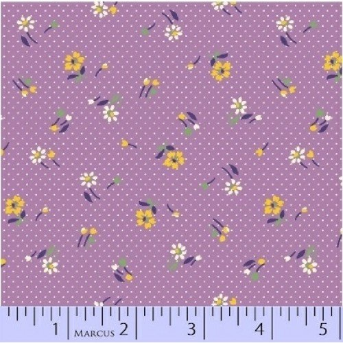 Aunt Grace - Flowers Purple Yardage