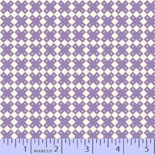 Aunt Grace - Purple Xs White Check Yardage