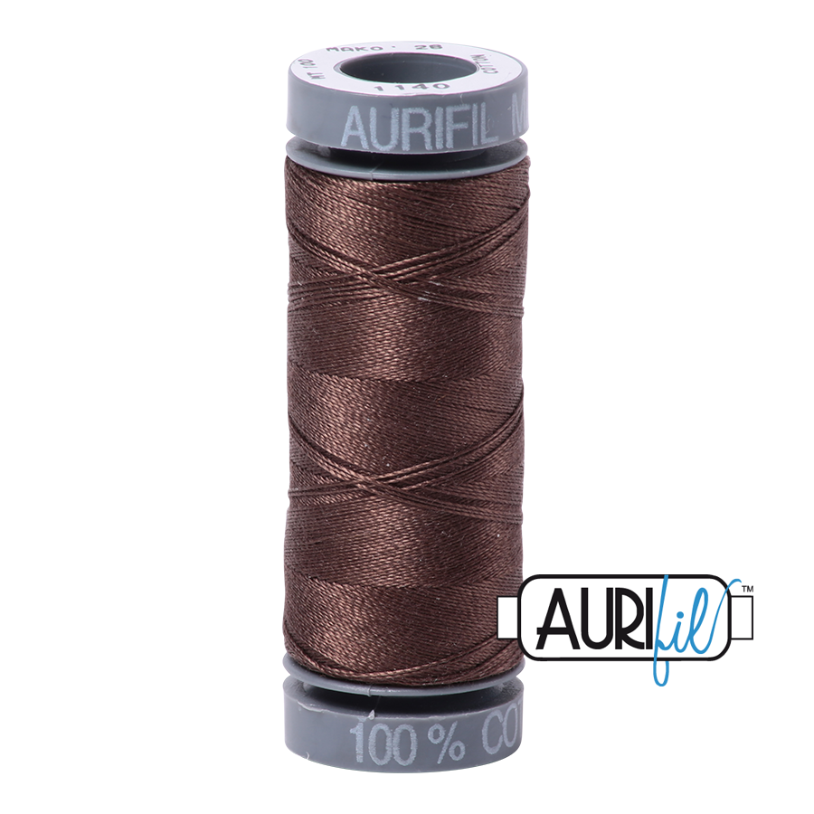 Aurifil 28wt Small Spool- Bark