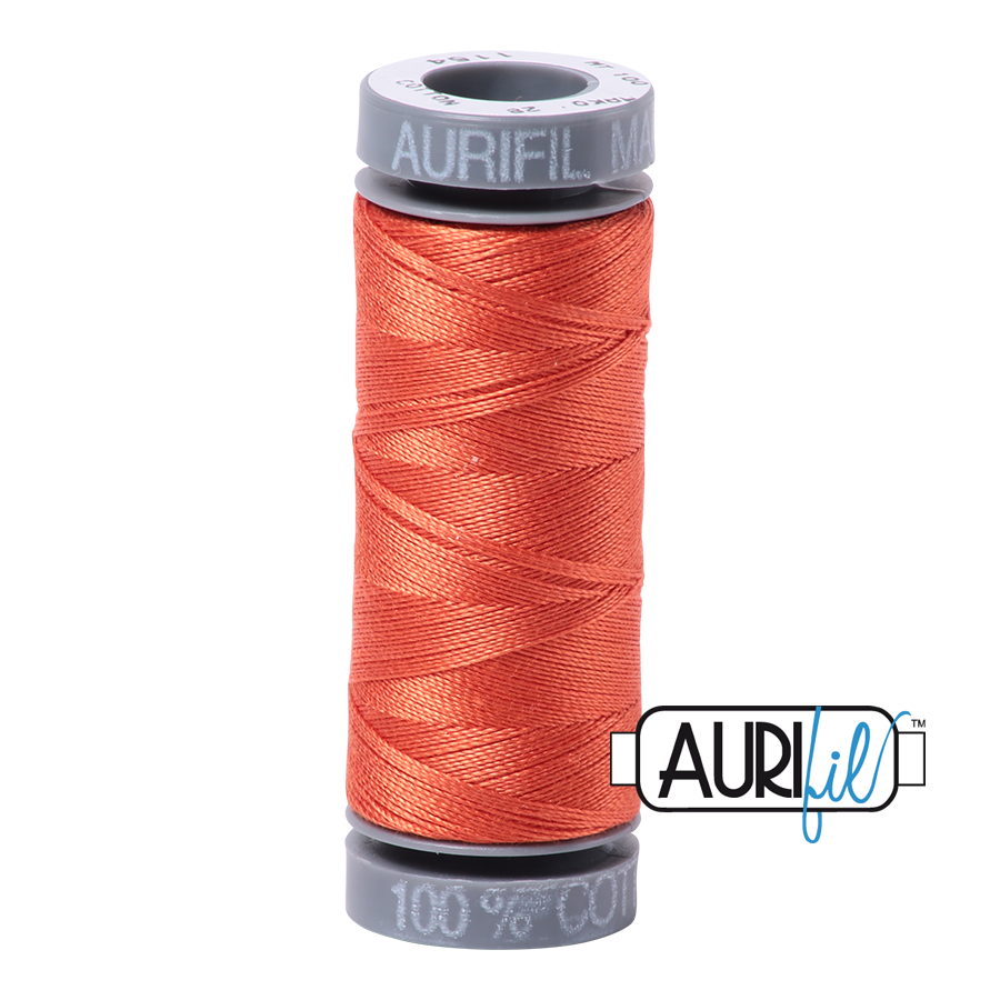 Aurifil 28wt Small Spool- Dusty Orange